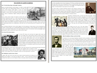 African American History - The Rise and Fall of Slavery - Reading Comprehension
