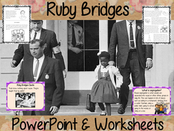 Ruby Bridges PowerPoint and Worksheets Lesson