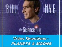 Bill Nye the Science Guy: PLANETS & MOONS (Video worksheet ...