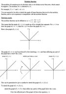 Combined graph transformations and modulus function (new A level)