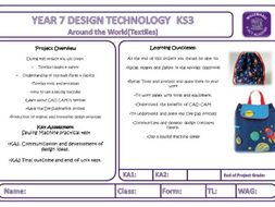 Year 7 Textiles Bag for life booklet and powerpoint