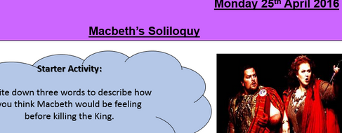 Macbeth full SoW GCSE