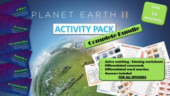 Planet Earth 2 : Activity pack : Complete Bundle