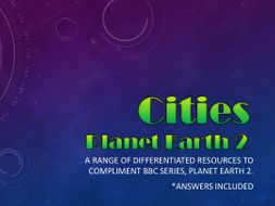Planet Earth 2 : Cities : Activity pack