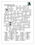 AR Verbs in Spanish Verbos AR Present Tense Crossword