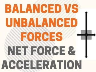 Balanced vs Unbalanced Forces - Net Force & Acceleration Practice