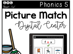 CVC Short O - Digital Center - Picture Match - Phonics (Google Classroom)
