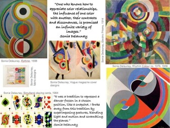 Sonia Delaunay artist research & analysis worksheet