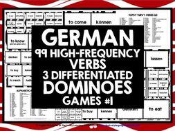 GERMAN VERBS DOMINOES GAMES 1