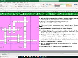 Introduction  to the Internet Crossword  in Excel