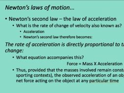 A-Level PE - Newtons Laws of Motion