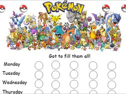 Pokemon reward chart by caitrionahansen - Teaching Resources - Tes f918a89f35