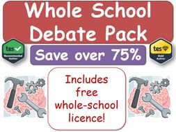 Whole-School Multi-Subject  Debate Pack [Debates, Debate Generators, Critical Thinking, Meta-Cognitive, Metacognitive]