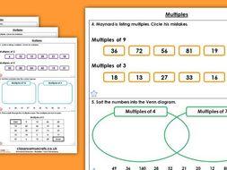 FREE Year 5 Multiples Autumn Block 4 Maths Homework Extension
