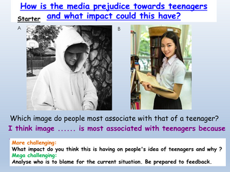 Teenagers in the media