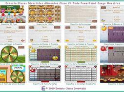 Food Items Kooky Class Spanish PowerPoint Game