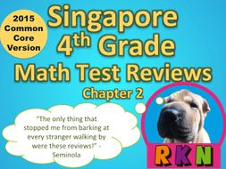 Singapore 4th Grade Chapter 2 Math Test Review (2015 Common Core Version)