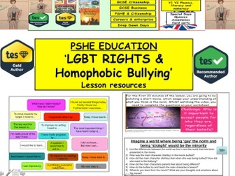 PSHE: Homophobic Bullying and the development of LGBT Rights