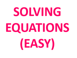Solving  Easy Equations