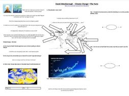 Climate Change, the Facts - Worksheet to support the BBC David Attenborough Documentary