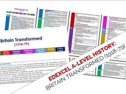 Transformed By Time And History >> Edexcel History A Level Britain Transformed 1918 1997 By