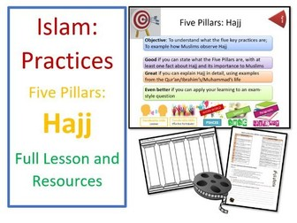 Islam: Practices - Five Pillars: Hajj/Pilgrimage - Whole Lesson and Resources