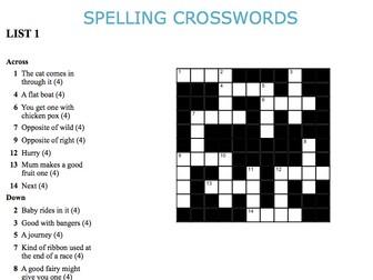 Graded Spelling Crosswords 1-5