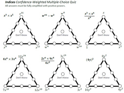 Indices Confidence Weighted Multiple-Choice Quiz by fsands