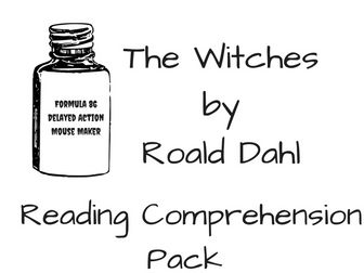 Roald Dahl Reading Comprehension Bundle by