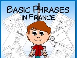 French Polite Phrases Vocabulary Sheets and Printables