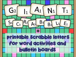 giant scrabble letter by englishteaching101 teaching resources tes