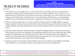 Eduqas Religious Studies Component 2 Church Groups and Living Out Faith FULL LESSON