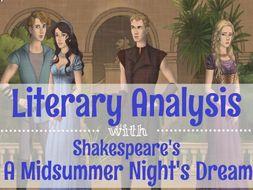 Shakespeare's A Midsummer Night's Dream: Literary Analysis- Digital & Printable!