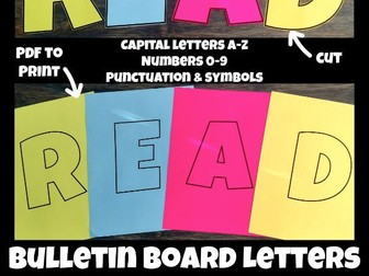 Bulletin Board Letters for Back to School