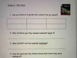 Oxford Reading Tree Stage 4 Comprehension Decode and Develop