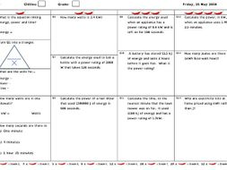 GCSE Physics and/or Combined Science Differentiated Equation Worksheet - Force, Mass & Acceleration