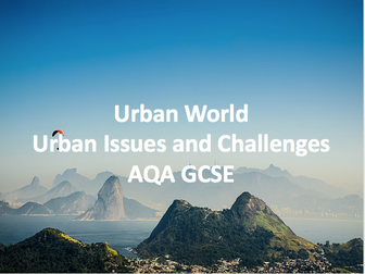 Urban Issues and Challenges - Urban World