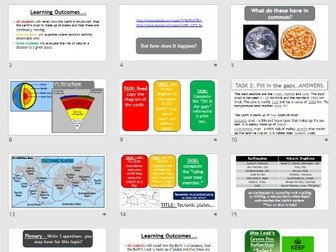 Tectonic Hazards - introduction (Lesson and resources).