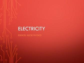 Physics Edexcel IGCSE PowerPoints - Electricity