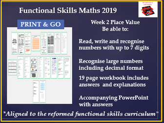 Reformed functional skills place value/language of maths