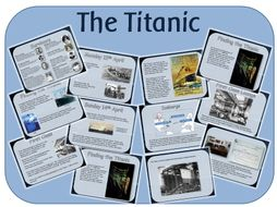 The Titanic - powerpoint lessons, worksheets and activities suitable for KS1 KS2