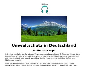 Umweltschutz in Deutschland - German Listening and Transcript Environment