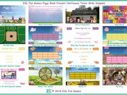 Present Continuous Tense Piggy Bank English PowerPoint Game