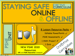 Staying Safe KS3 PSHE 2020 Unit