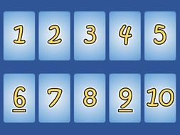 Number cards 1-10, 1-20, 1-30: Editable (15 colours)