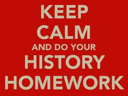 Year 7 History Homework Booklets