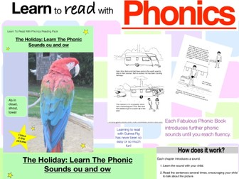 The Holiday: Learn The Phonic Sounds ou and ow (as in shout and cloud) (Learn To Read With Phonics)