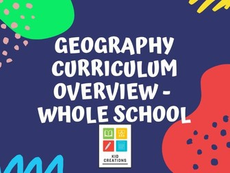 Geography Curriculum Overview Whole School