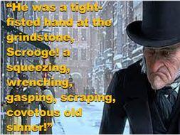 A Christmas Carol Key Quote display