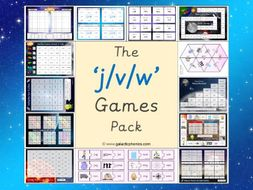 The j, v and w Phonics Games Pack (Letters and Sounds Phase 3)
